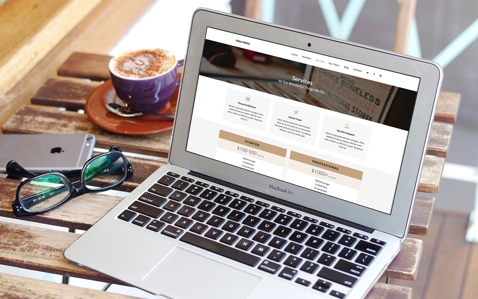 Nou·veau Business Website